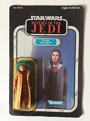Vintage STAR WARS Kenner ROTJ Princess Leia Organa (Bespin Gown) 65 back MOC