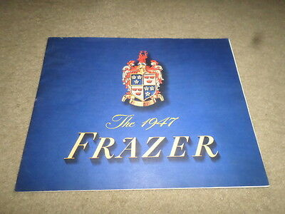 L. 1947 Frazer Car Dealer Sales Brochure