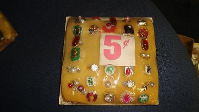 Vending Machine 5 Cents Header Card Assorted Rings