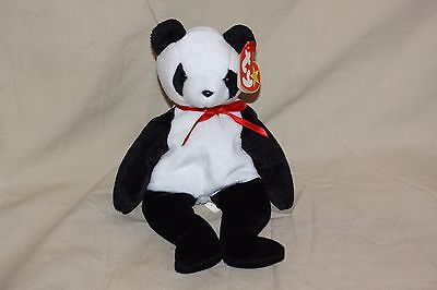 TY Beanie Babies Baby Fortune Panda Bear Plush Stuffed Animal Toy MWMT 504d1efded8c