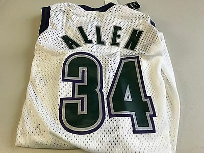 Nwt Men s Ray Allen  34 Retro Milwaukee Bucks White Nike Nba Swingman Jersey 63b38649b