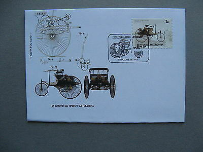 MACEDONIA, cover FDC 2011, 125 years cars, Benz