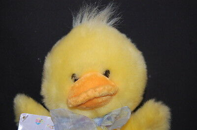 "Yellow Duck 9"" Applause Floral Happy Easter NWT Plush Stuffed Animal"