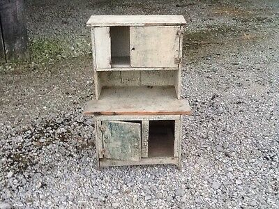 "Vintage Salesman Sample Hoosier Cabinet Early 1900's Primitive 22"" X 10"""