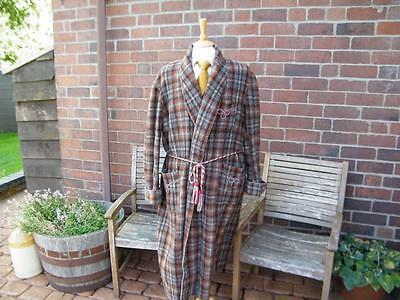 Vintage Wool Smoking Jacket / Dressing Gown / Robe chest 42/44""