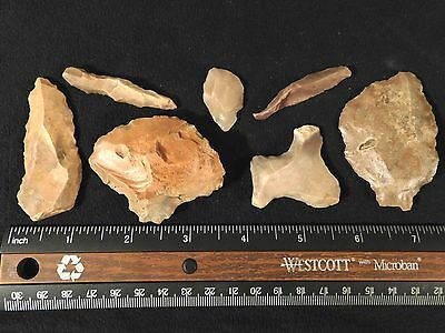 Lot of Rare Authentic Aterian Lithic Artifacts 55,000 to 12,000 Years Old 103gr