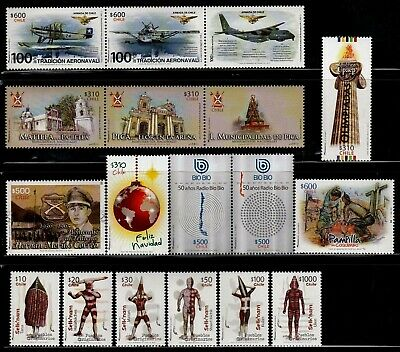 Chile 2016 Complete year  9 MNH stamps