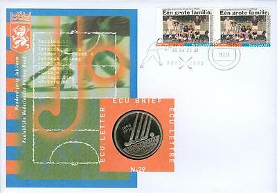 Netherlands ECU coin cover Hockey Numisbrief fy37-2