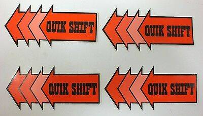 Lot Of 6 QUIK SHIFT STICKERS DECALS