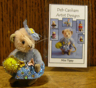"""DEB CANHAM Artist Designs MISS TIPPY TOES, Circus Coll. 2.75"""" LE Mohair mouse"""