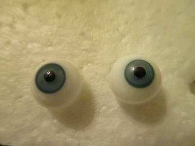 11 mm Antique Blue Hand  Blown German Glass Eyes  6.5 mm Iris     J14