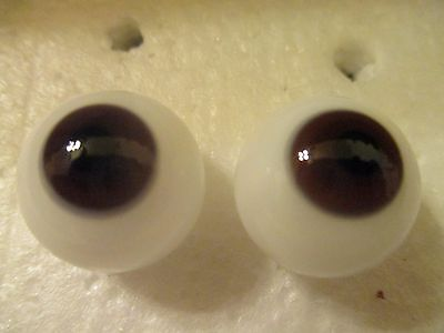 11 mm Schoepfer Antique Brown Oval Hand blown Glass Eyes 5 mm Iris  SE11BRN