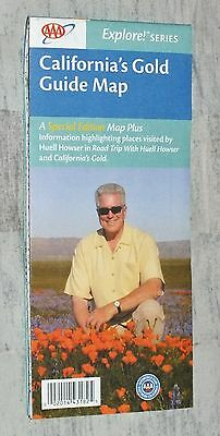 AAA Special Edition Huell Howser California's Gold Guide MAP New!