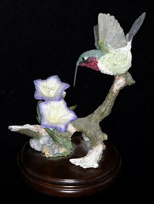 Country Artists Hand-Crafted -Painted Stratford Ruby Throat Hummingbird 01170
