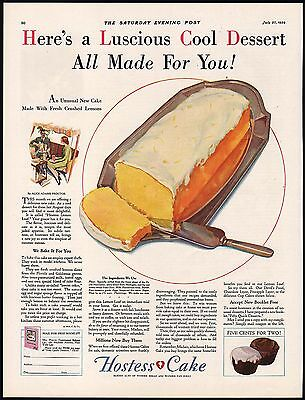 Vintage magazine ad HOSTESS CAKE picturing a cake dated 1929 n-mint+ condition