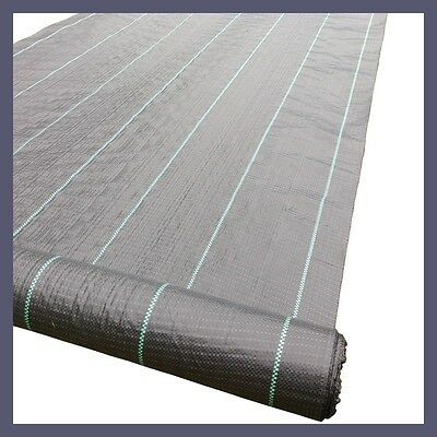 2m x 10m Weedmat Weed Control Mat 100gsm PP Woven Fabric Landscape Gardening