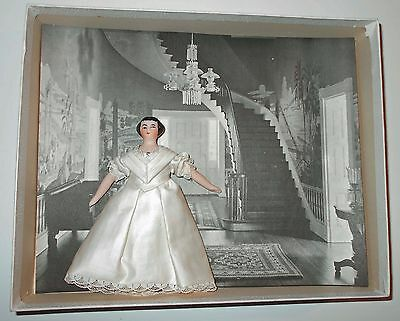 1966 Chicago UFDC Convention EJ Carter Mrs Lincoln Doll in Shadowbox