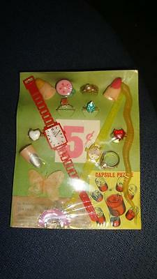 Vending Machine 5 Cents Header Card Butterfly 2 Flicker Watches Whistle Ring