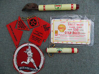 Vintage Texaco, Shell, Sinclair, Marathon Gas Motor Oil Service Station Premiums