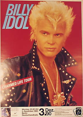 Billy Idol Concert Tour Poster 1990 Charmed Life