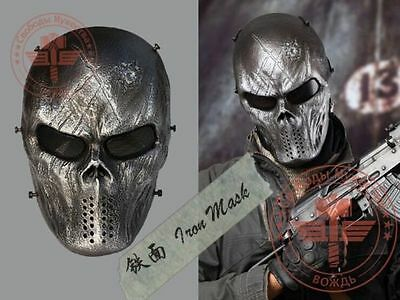 Full Face Metal &mesh Airsoft Mask Outdoor CS Game Cosplay Paintball  BB-Iron