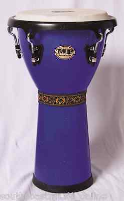 Mp154 Mano Percussion Tuneable 10 Inch Djembe Hand Drum Blue -  Goat Skin Head