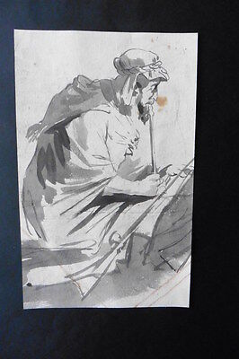 French School Ca. 1820 - Orientalistic Scene - Pipe Smoking Man