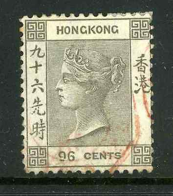 Hong Kong 1863-71 CC 96c used with a light cancel SG 19 cat £60