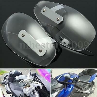 Clear Motorcycle Hand Guard Wind Deflector Protector Shield for Harley Cruiser