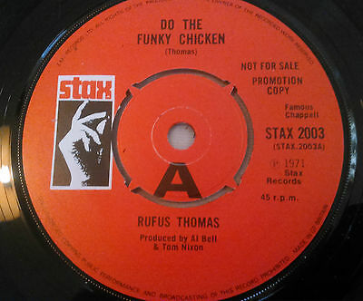 "Rufus Thomas - Do The Funky Chicken / The Breakdown Pt.1 'promo' 7"" 45 Rpm Ex!!!"