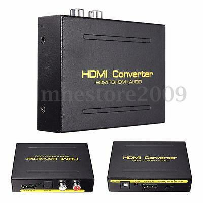 1080P HDMI to HDMI + SPDIF + RCA L/R Audio Splitter Extractor Converter Adapter