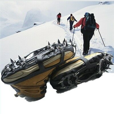 Hiking Climb Crampon Boot 18 Teeth Shoe Spikes Grips Outdoor Ice Snow Anti Slip