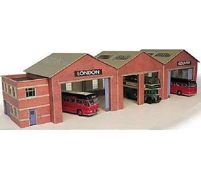 Metcalfe PN125 Card - Bus Garage (N) Railway Model
