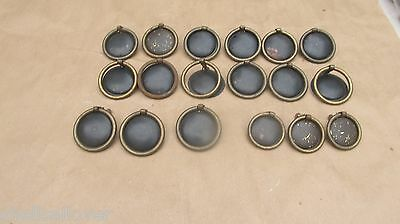 18  Vintage Brass & Metal  Drawer Pulls