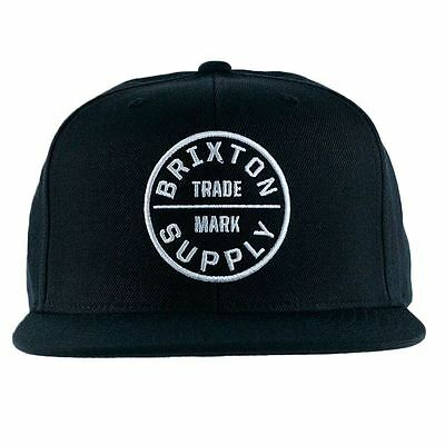 Brixton Apparel Oath III Snapback Hat Black New Free Delivery
