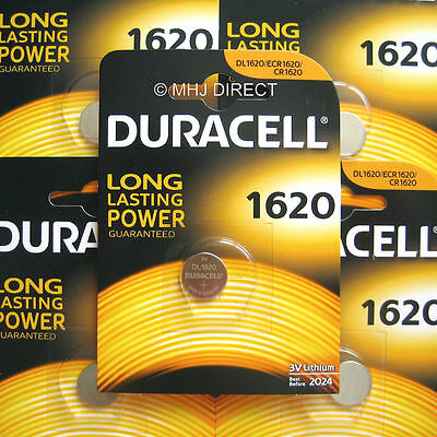 1 x Duracell CR1620 DL1620 ECR1620 Lithium 3v Batteries Coin Cell Use By 2025