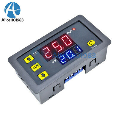 12V Cycle Timer Delay Dual Display Relay Module 0-999 hours/minutes/seconds