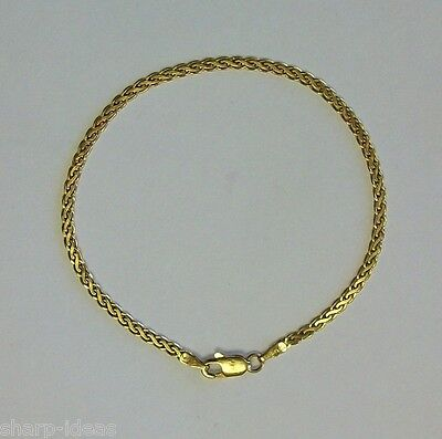 """Ladies Fancy Link Bracelet With Claw Clap - 14k Yellow Gold - 6.75"""""""