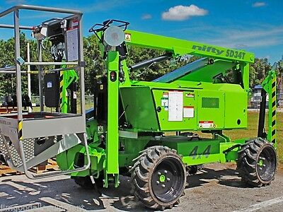 Nifty SD34T 40' Boom Lift,4WD,Only 4100Lbs,Kubota Diesel Power,Brand New 2018s