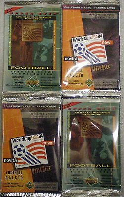 UPPER DECK WORLD CUP USA 94 - 4 x Unopened packets FOOTBALL TRADING CARDS