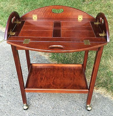 Bombay Furniture Co Butlers Tray Table Rolling Tea Cart Bar Buffet Server
