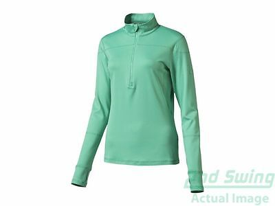 New Womens Puma 1/4 Zip Long Sleeve Pullover Small S Mint Leaf MSRP $65 570544