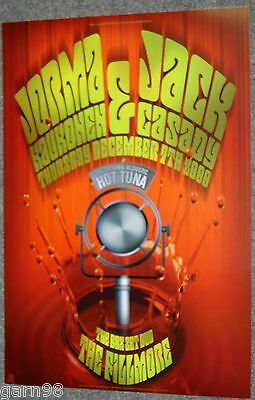 Acoustic Hot Tuna Jorma Jack Concert Poster Fillmore SF 2000 Airplane