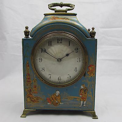 Superb Antique Chinoiserie Mantel Clock French Movement Great Condition