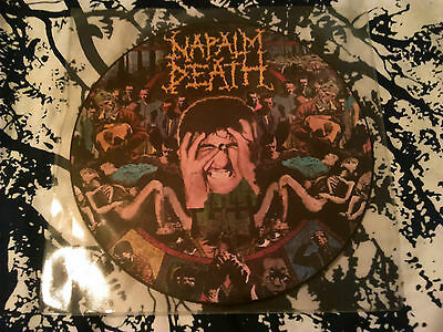 Napalm Death - From Enslavement To Obliteration 'picture Disc' Lp Ex!!! Earache