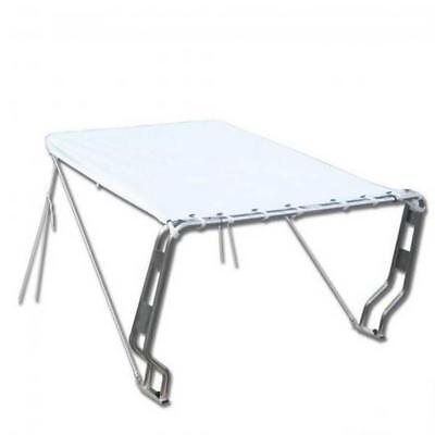 Telescopic Awning Canopy For Boats Equipped With Roll Bar