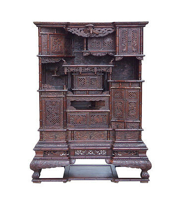 Chinese Vintage Rosewood Display Storage Hutch Cabinet cs1501-A
