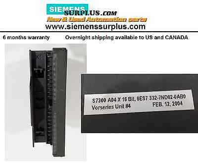 Siemens Simatic S7 6ES7 332-7ND02-0AB0