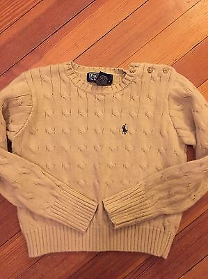 Ralph Lauren Polo Tan Cable Sweater Boy 4T