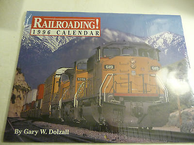 "1996 Sealed  ""railroading!"" Calendar -Monarch Books"